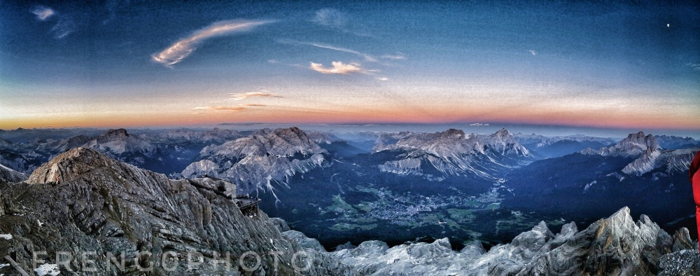 Sunset from cima tofana Cortina
