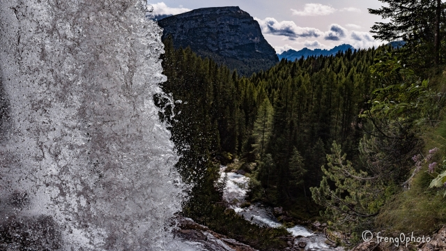 View from Fanes Cascade