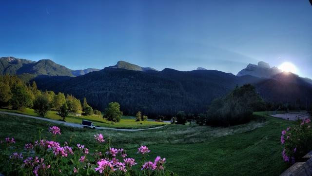 tramonto dietro al monte pelmo. freng0photo